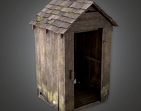 3D model Wooden Shed CEM - PBR Game Ready
