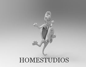 3D print model Movable Pendant Lizard with GEMs