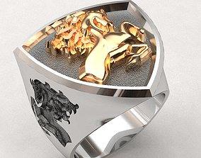 3D print model Rearing horse ring