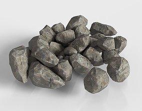 3D model Stone Rock set