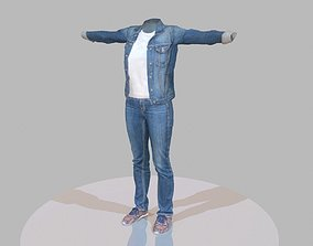 3D model Jeans outfit for female characters