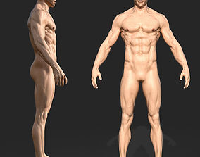 rigged 3D Rigged Male Muscular GAME READY model 3D model