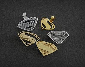 3D print model Superman pendants badges