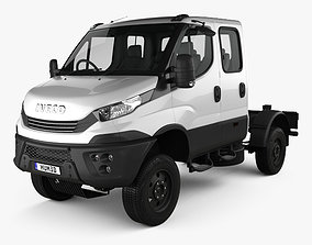3D model Iveco Daily 4x4 Dual Cab Chassis 2017
