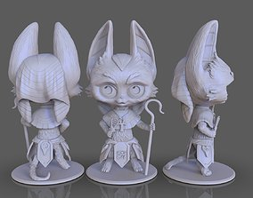 stylized goddess cat Basteth 3D print model