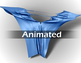 3D animated Torn Cloth
