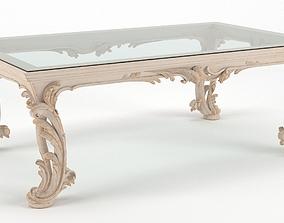 Classic Coffee Table Chelini Art 1064 - Ivory 3D model