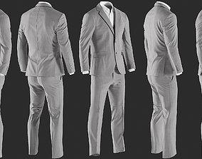 Mens Pants with Shirt Jacket and Waistcoat 2 3D model