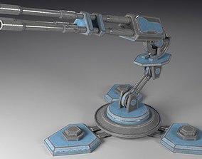 Sci-Fi Turret T-3B 3D asset