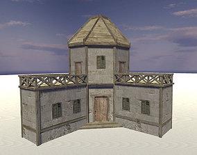3D asset Medieval barracks