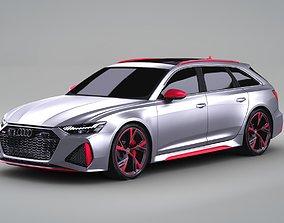 3D Audi RS6 2020 HQ Exterior model