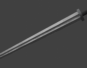 3D asset One-handed Scandinavian Sword of the Vikings
