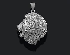 lion pendant 3D print model jewellery