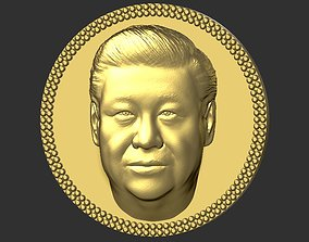 Xi Jinping medallion pendant 3D printing ready stl obj