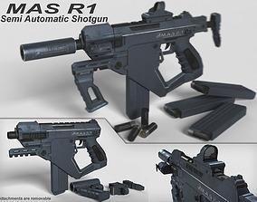 3D asset Semi-Automatic Shotgun MAS R1