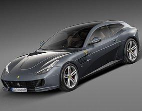 Ferrari GTC4 Lusso 2017 3D model