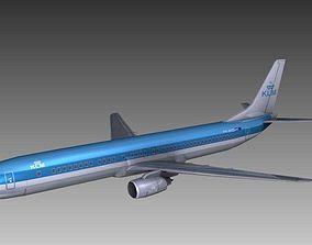 Boeing 737 KLM 3D asset