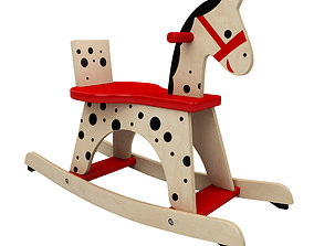 3D asset Toy Rocking Horse