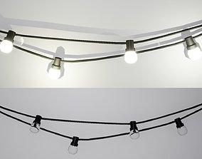 Modern style wall lamps October 3D asset