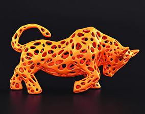3D print model Bull Wireframe
