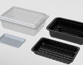 3D model Transparent Plastic Food Container