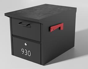 Midcentury-Modern Mailbox 3D asset game-ready