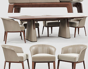 3D model Giorgetti Aura chair Fang table