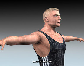Athletic handicap 3D asset