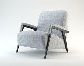 3D garment Upholstered Armchair Model