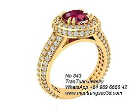 3D printable model 843 Diamond Ring