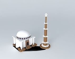 keraniganje mosque 3D model