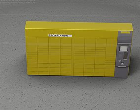 Packstation Object -5- Large Packstation with 3D model 1