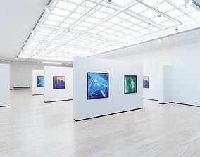 3D asset Art Museum Gallery Interior 4