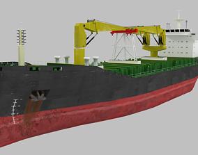 Bulk Carrier Ship Lowpoly 3D model