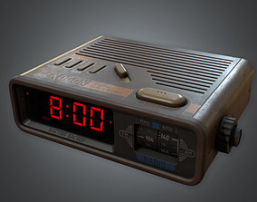 3D model Alarm Clock 01 Retro 80s