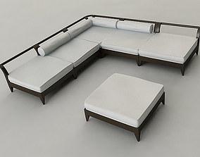 3D model pool Outdoor Furniture Set