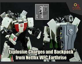 Explosives and Backpack from Transformers 3D print model 2