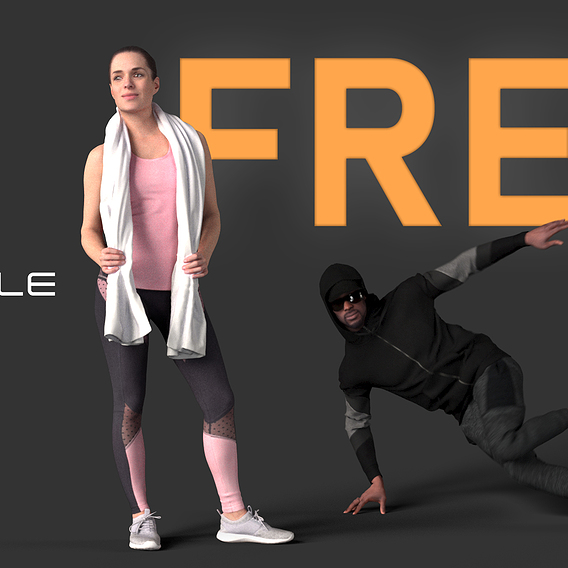 NEW FREE 3DPEOPLE - NOW ON CGTRADER