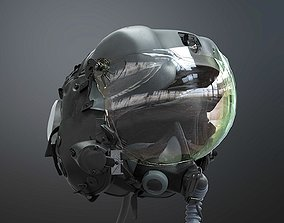 Fighter Pilot Flight Helmet 3D armored