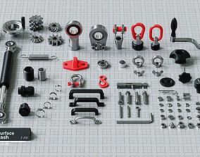 3D model Hard Surface Kitbash Pack - Real Mechanical