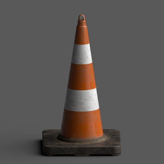 Lowpoly Pbr Traffic Cone