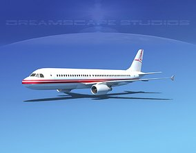3D model rigged Airbus A320 LP Corporate 3
