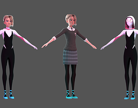 3D model Gwen Stacy - Into the Spider-Verse Suit and 1