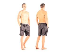 3D asset Man in shorts 10