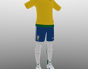 Brazil soccer kit 3D model