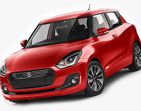 3D model Suzuki Swift 2018