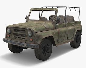 UAZ Military 3D model