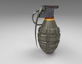 Grenade 3D model low-poly military