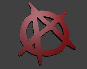 Anarchy sign trinket 3D print model
