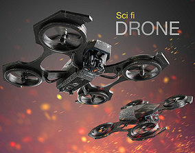 flying Drone 3D